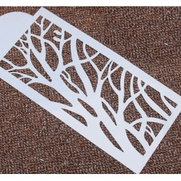 POCHOIR PLASTIQUE 23*12cm : branches d'arbre (01)