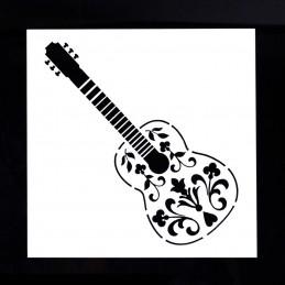 POCHOIR PLASTIQUE 15*15cm : guitare (02)