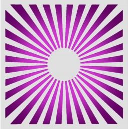 POCHOIR PLASTIQUE 15*15cm : rayons de lumière (02)