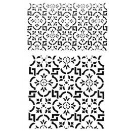 POCHOIR PLASTIQUE 30*21cm : motif fantaisie (38)