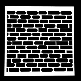 POCHOIR PLASTIQUE 13*13cm : mur motif brique (01)