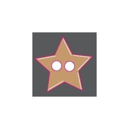 Boutons bois étoile