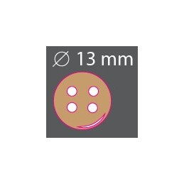 Bouton bois rond 13mm