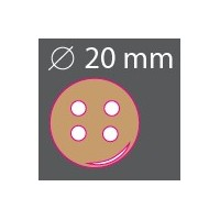 Bouton bois rond 20mm