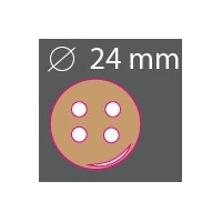 Bouton bois rond 24mm