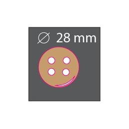 Bouton bois rond 28mm